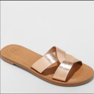 a new day Trina Slides Rose Gold Size 11